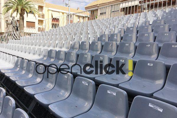 gradas portatiles de asiento con respaldo 7